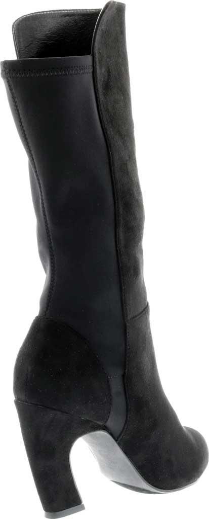 Women's Bellini Chrome Heeled Boot, Black Microsuede/Lycra, large, image 4