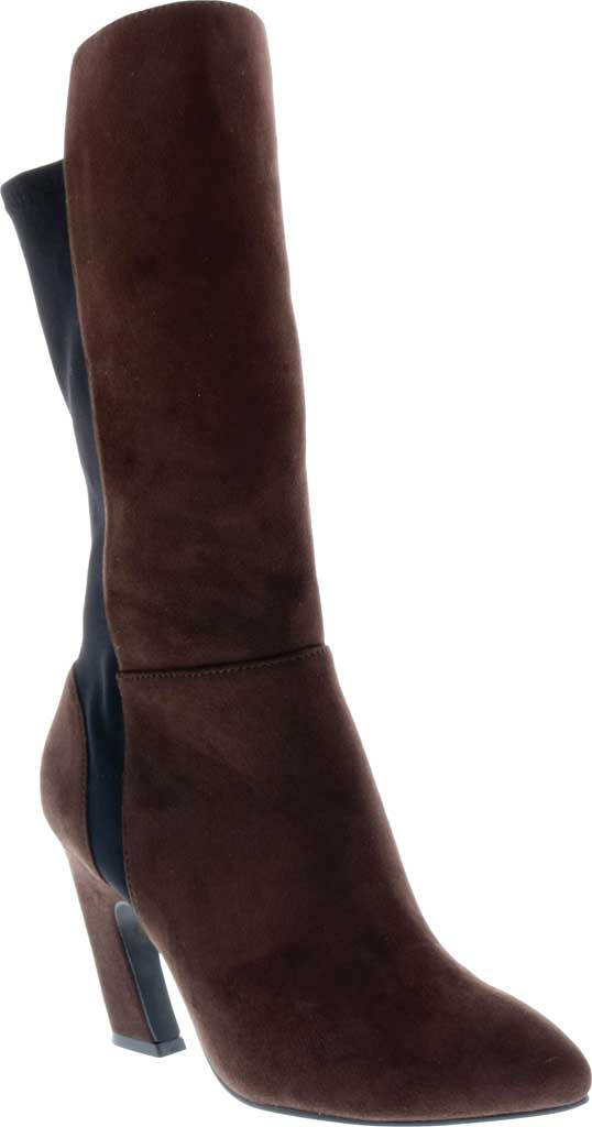Women's Bellini Chrome Heeled Boot, Brown Microsuede/Lycra, large, image 1