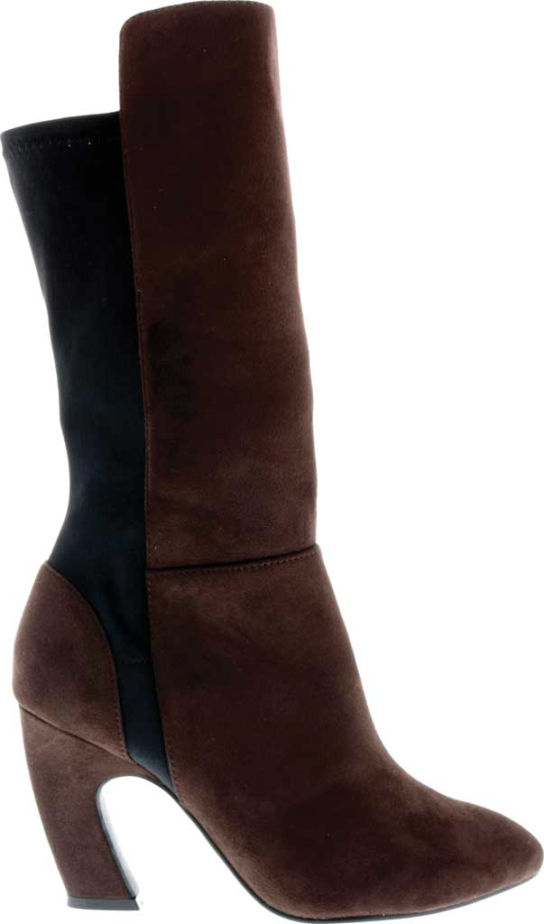 Women's Bellini Chrome Heeled Boot, Brown Microsuede/Lycra, large, image 2