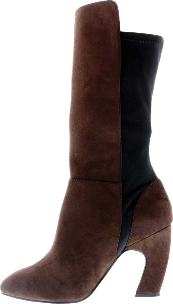 Women's Bellini Chrome Heeled Boot, Brown Microsuede/Lycra, large, image 3