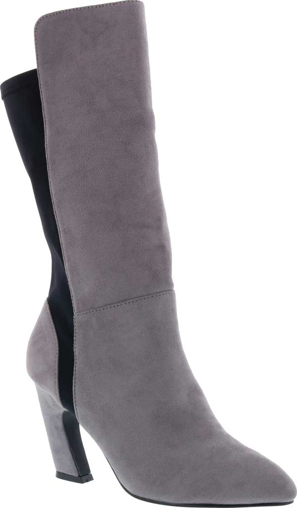 Women's Bellini Chrome Heeled Boot, Grey Microsuede/Lycra, large, image 1