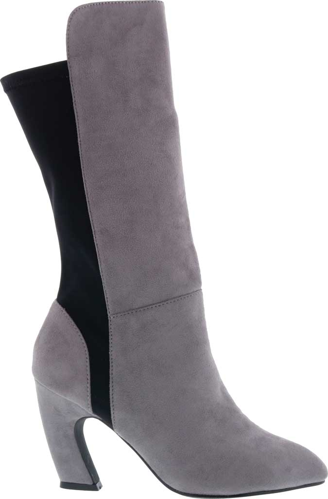 Women's Bellini Chrome Heeled Boot, Grey Microsuede/Lycra, large, image 2