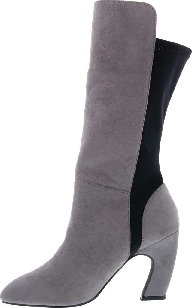 Women's Bellini Chrome Heeled Boot, Grey Microsuede/Lycra, large, image 3