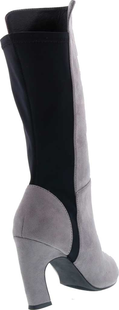 Women's Bellini Chrome Heeled Boot, Grey Microsuede/Lycra, large, image 4
