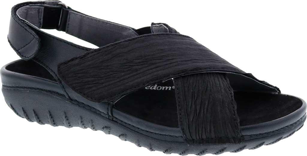 Women's Drew Bon Voyage Slingback Sandal, Black Fabric, large, image 1