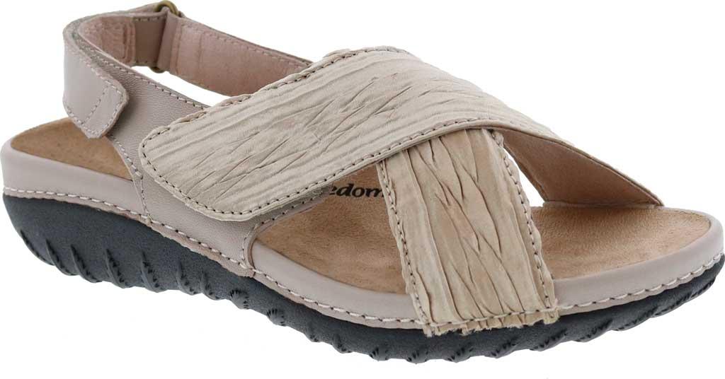 Women's Drew Bon Voyage Slingback Sandal, Beige Fabric, large, image 1