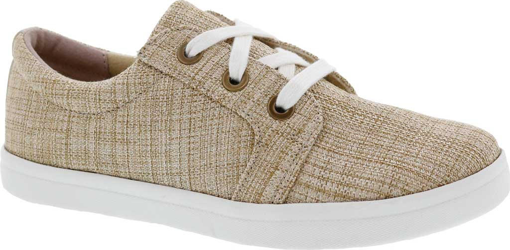 Women's Drew Ruby Sneaker, Natural Textile, large, image 1