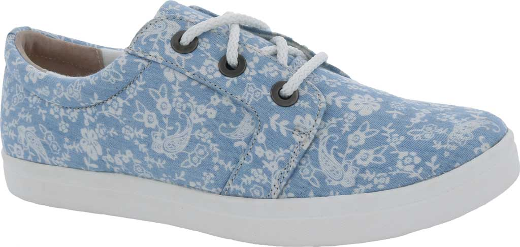 Women's Drew Ruby Sneaker, Blue/White Canvas, large, image 1