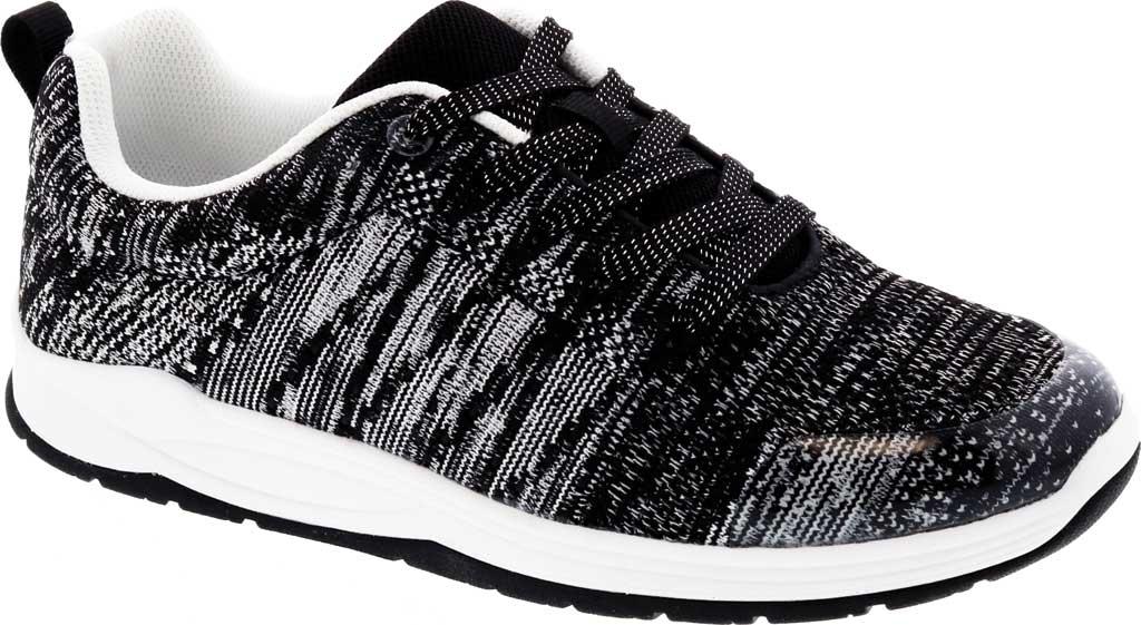 Women's Drew Galaxy Sneaker, Black/White Textile, large, image 1