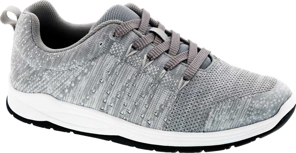 Women's Drew Galaxy Sneaker, Grey/White Textile, large, image 1