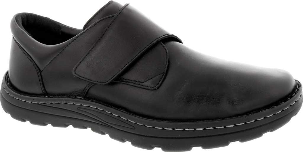 Men's Drew Watson Hook and Loop Shoe, Black Textile/Leather, large, image 1