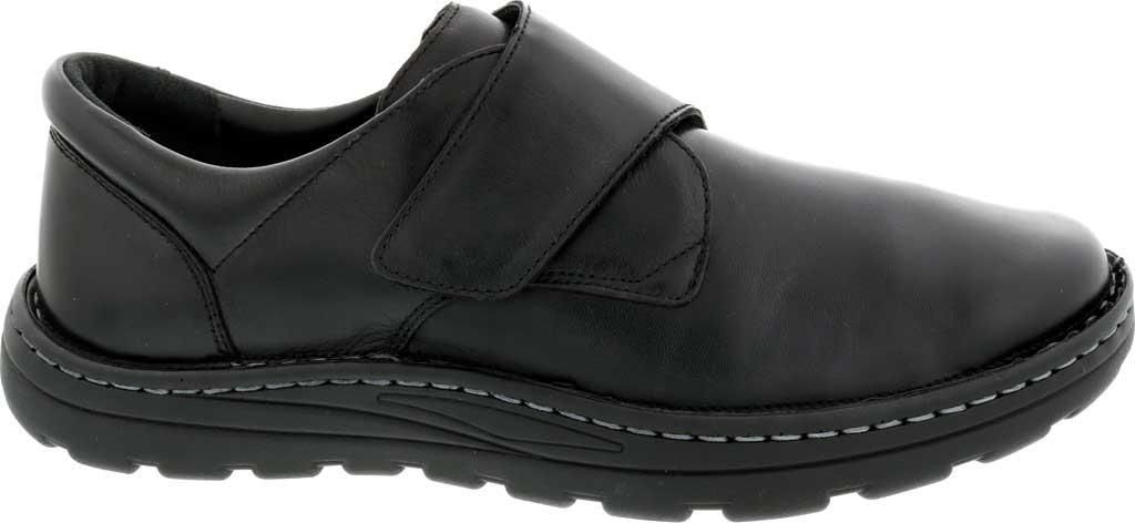 Men's Drew Watson Hook and Loop Shoe, Black Textile/Leather, large, image 2