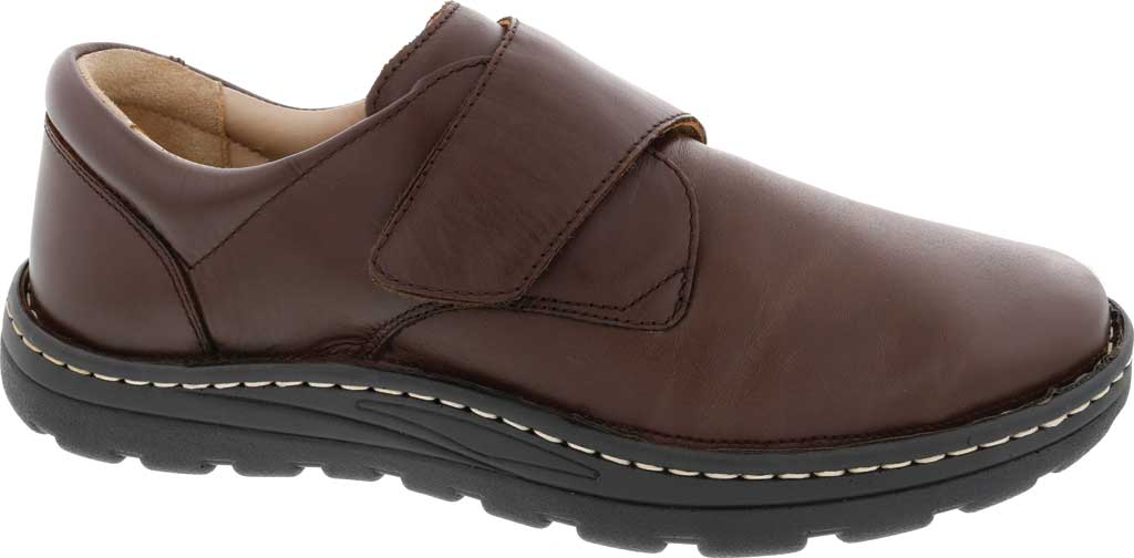 Men's Drew Watson Hook and Loop Shoe, Brown Textile/Leather, large, image 1