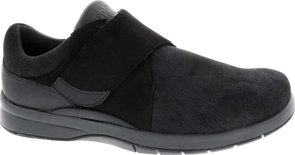 Women's Drew Moonwalk Sneaker, Black Knit/Leather, large, image 1