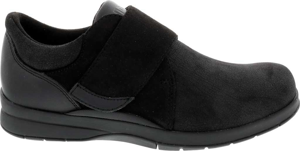 Women's Drew Moonwalk Sneaker, Black Knit/Leather, large, image 2