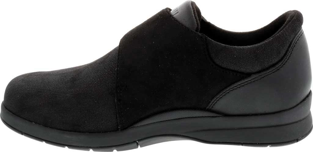 Women's Drew Moonwalk Sneaker, Black Knit/Leather, large, image 3