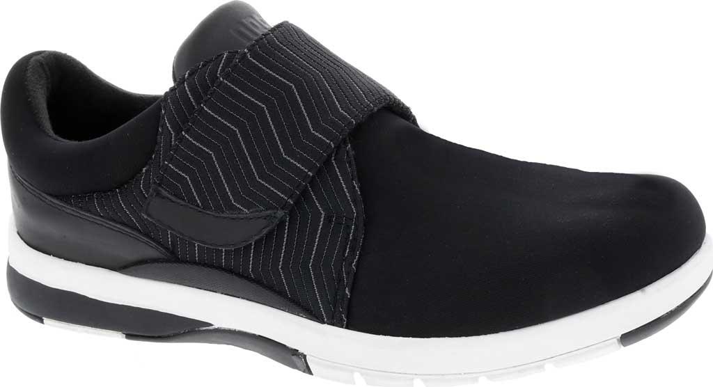 Women's Drew Moonwalk Sneaker, Black Lycra/Leather, large, image 1