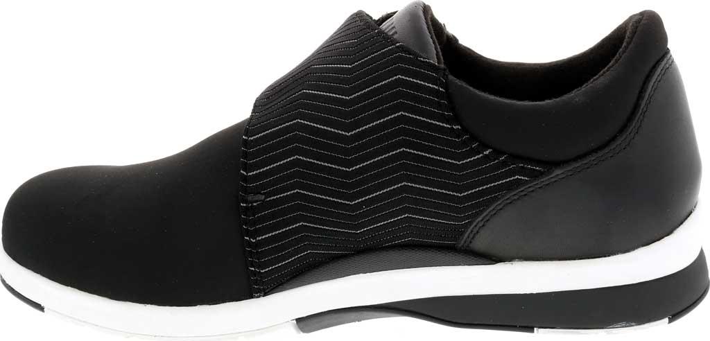Women's Drew Moonwalk Sneaker, Black Lycra/Leather, large, image 3