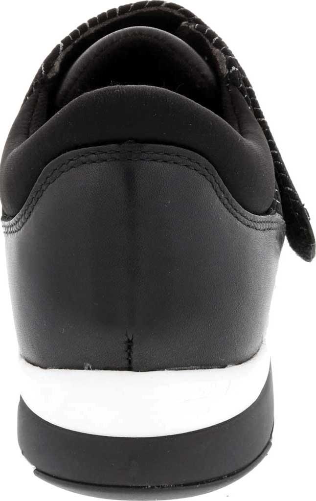 Women's Drew Moonwalk Sneaker, Black Lycra/Leather, large, image 4