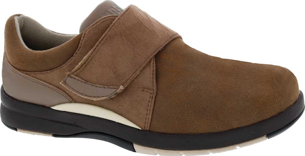 Women's Drew Moonwalk Sneaker, Brown Knit/Leather, large, image 1