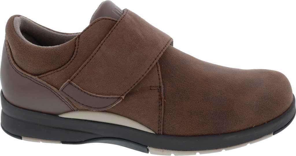 Women's Drew Moonwalk Sneaker, Brown Knit/Leather, large, image 2