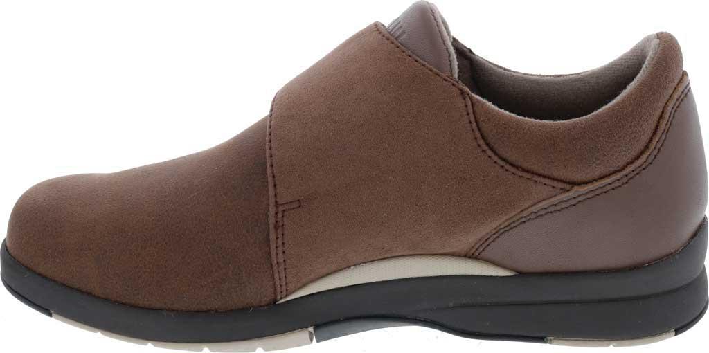 Women's Drew Moonwalk Sneaker, Brown Knit/Leather, large, image 3