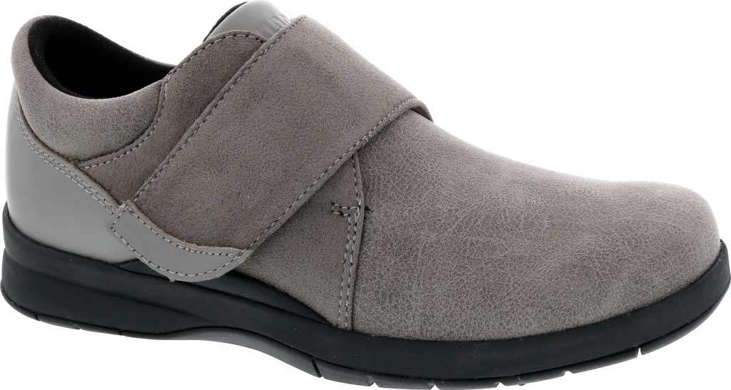 Women's Drew Moonwalk Sneaker, Grey Knit/Leather, large, image 1