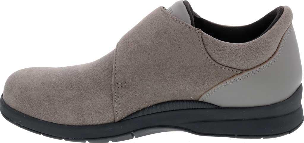 Women's Drew Moonwalk Sneaker, Grey Knit/Leather, large, image 3