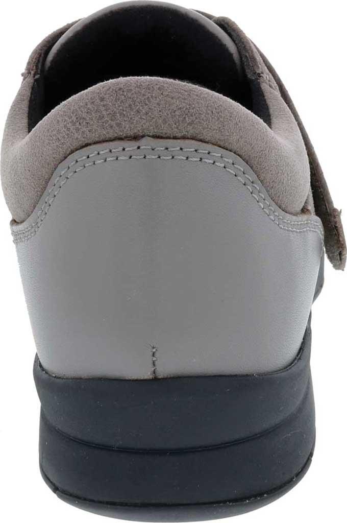 Women's Drew Moonwalk Sneaker, Grey Knit/Leather, large, image 4