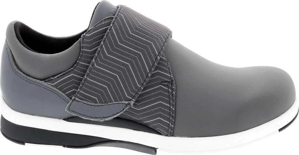 Women's Drew Moonwalk Sneaker, Grey Lycra/Leather, large, image 2