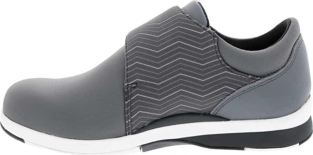 Women's Drew Moonwalk Sneaker, Grey Lycra/Leather, large, image 3