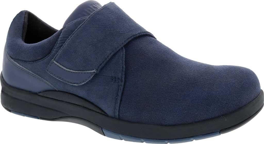Women's Drew Moonwalk Sneaker, Navy Knit/Leather, large, image 1