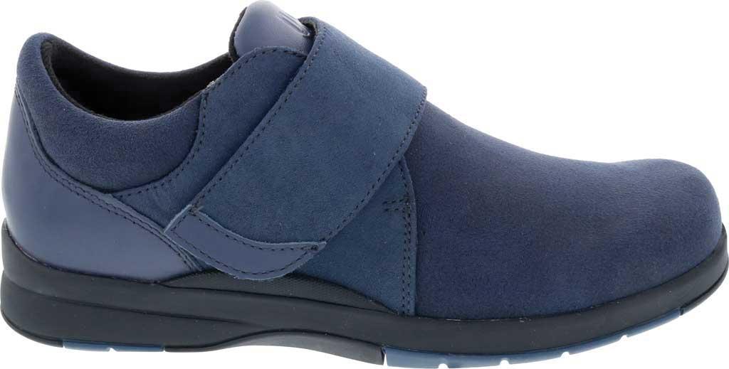 Women's Drew Moonwalk Sneaker, Navy Knit/Leather, large, image 2