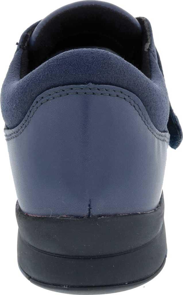 Women's Drew Moonwalk Sneaker, Navy Knit/Leather, large, image 4