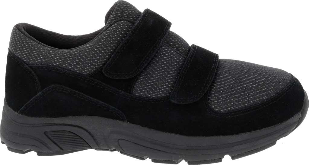 Men's Drew Win Hook and Loop Sneaker, Black Suede/Knit, large, image 2