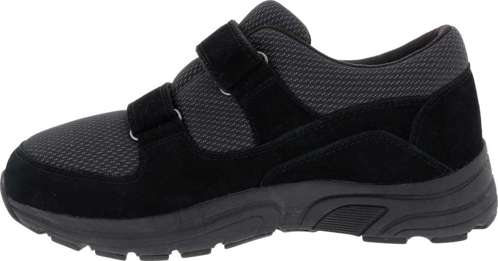 Men's Drew Win Hook and Loop Sneaker, Black Suede/Knit, large, image 3