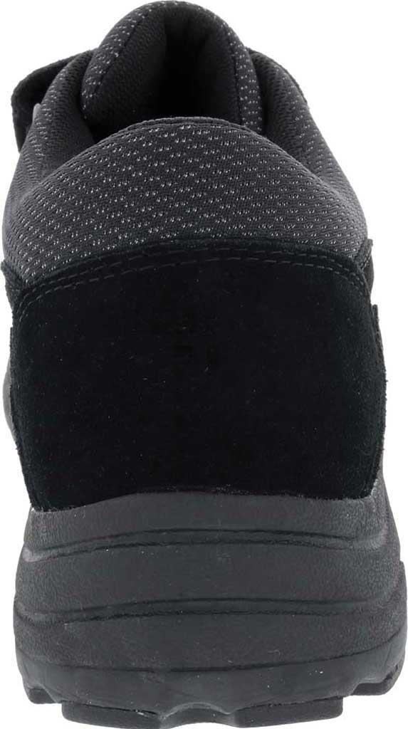 Men's Drew Win Hook and Loop Sneaker, Black Suede/Knit, large, image 4