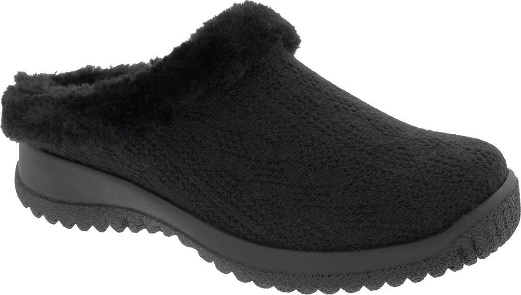 Women's Drew Comfy Clog, Black Sweater Knit, large, image 1
