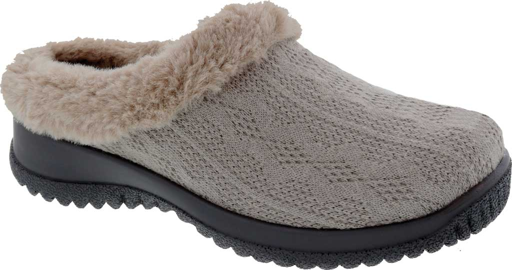 Women's Drew Comfy Clog, Stone Sweater Knit, large, image 1