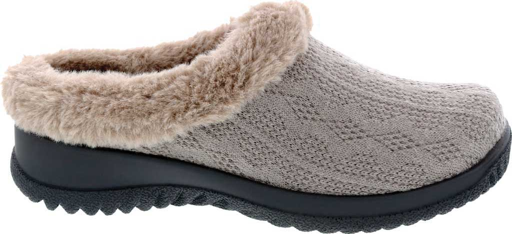 Women's Drew Comfy Clog, Stone Sweater Knit, large, image 2