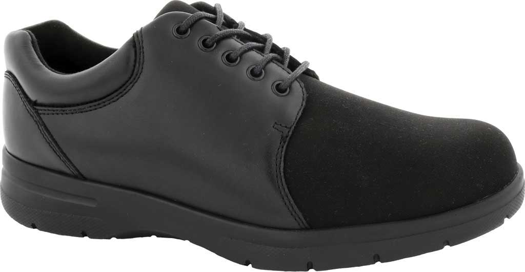 Men's Drew Drifter Oxford, Black Leather/Stretch Lycra, large, image 1