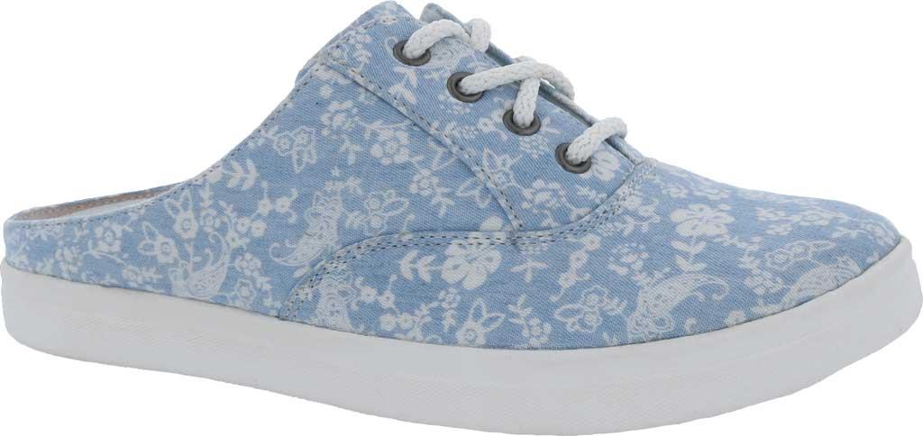 Women's Drew Sunstone Slip On Sneaker, Blue/White Canvas, large, image 1