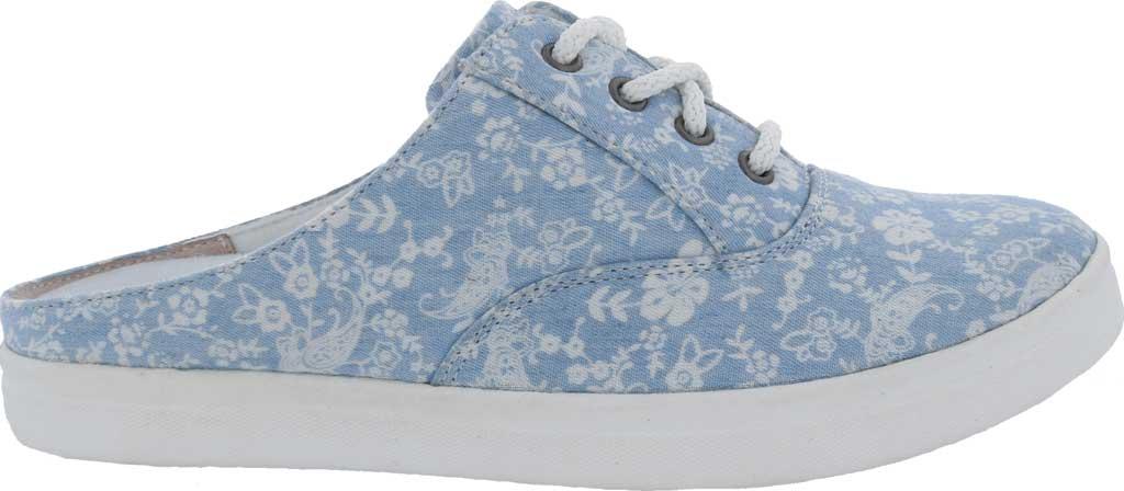 Women's Drew Sunstone Slip On Sneaker, Blue/White Canvas, large, image 2