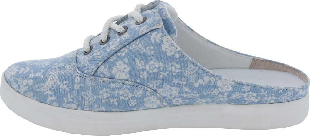 Women's Drew Sunstone Slip On Sneaker, Blue/White Canvas, large, image 3