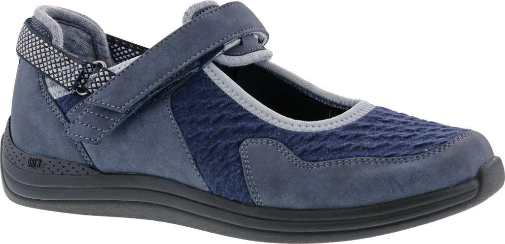 Women's Drew Buttercup Mary Jane, Navy Suede/Mesh, large, image 1