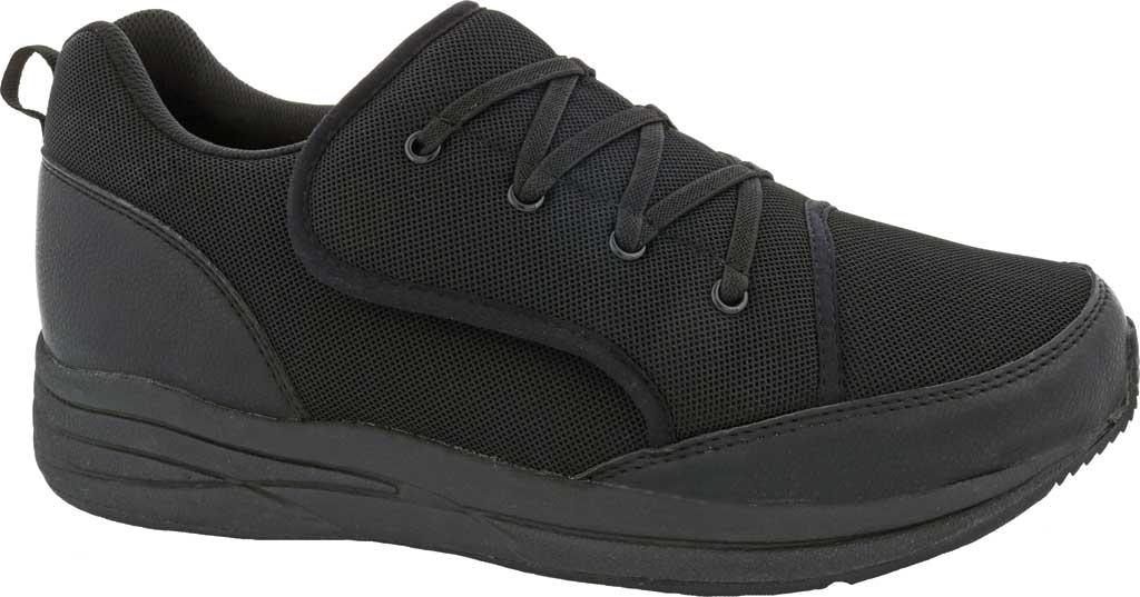 Men's Drew Strength Sneaker, Black Leather/Mesh, large, image 1