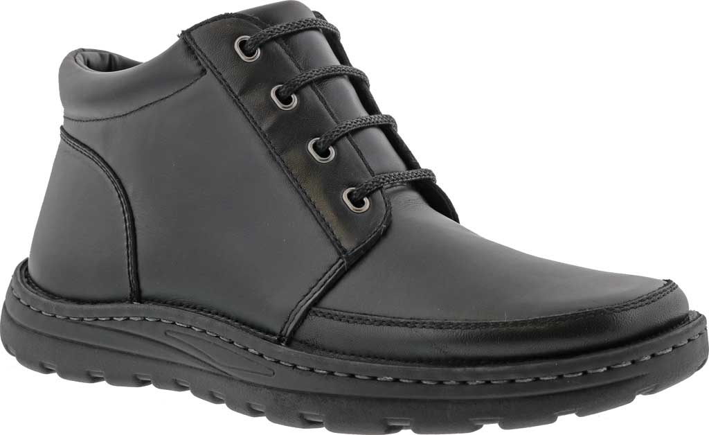 Men's Drew Trevino Ankle Boot, Black Leather, large, image 1