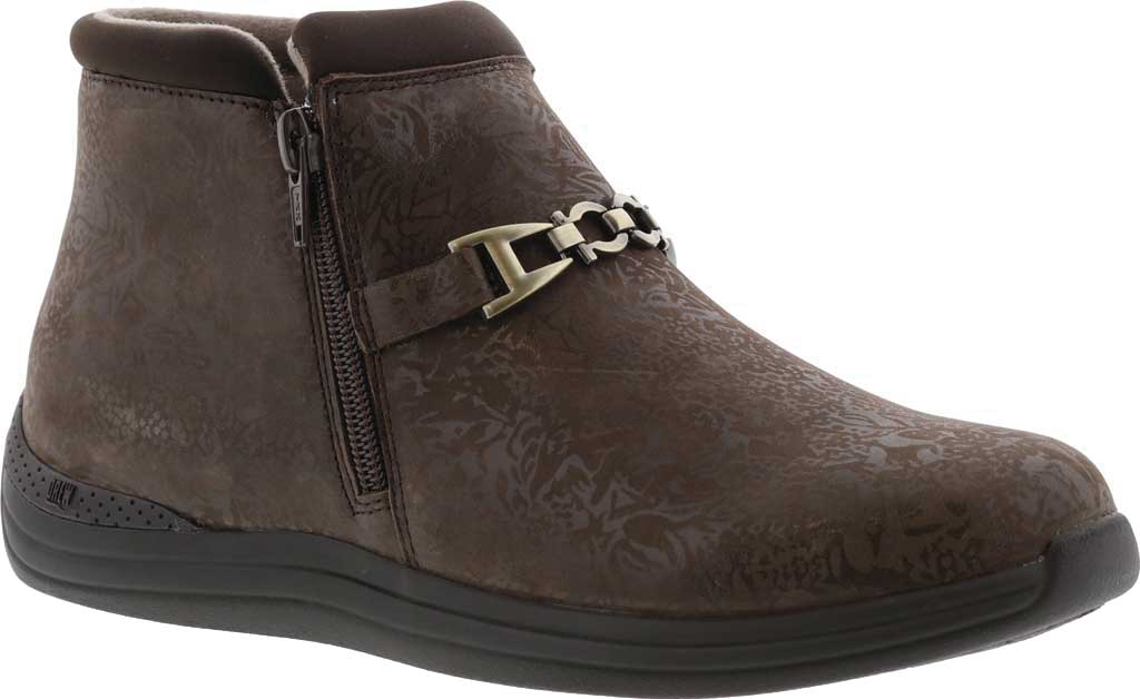 Women's Drew Blossom Bootie, Brown Foil Leather, large, image 1