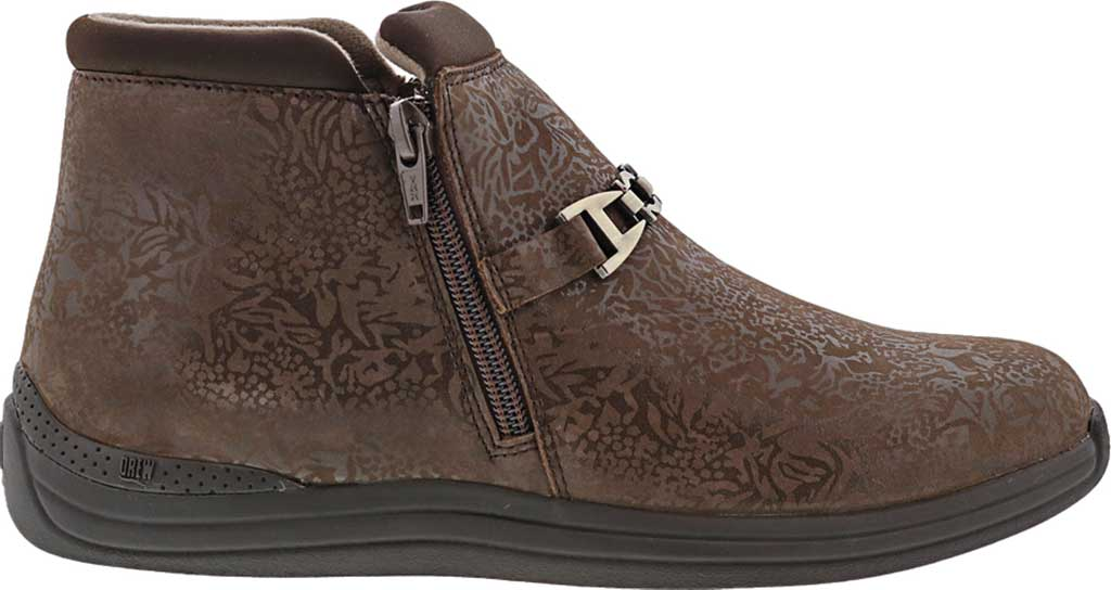 Women's Drew Blossom Bootie, Brown Foil Leather, large, image 2