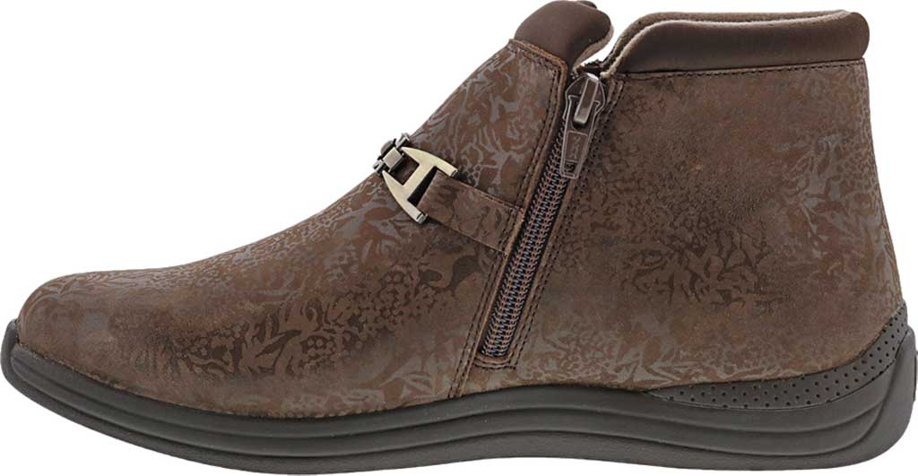 Women's Drew Blossom Bootie, Brown Foil Leather, large, image 3